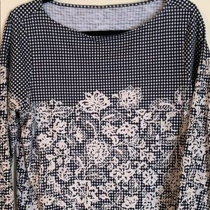 Multi Pattered 3/4 Sleeve Top